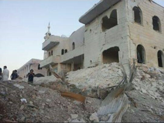 Kafr Zita, Hama province. The hospital after the air strike
