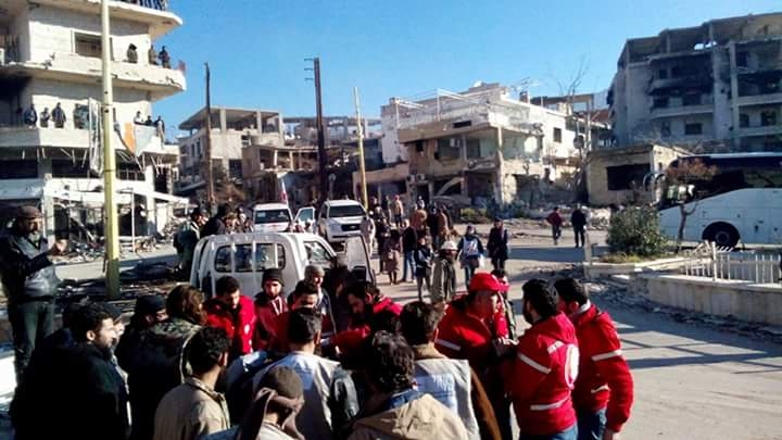Вывоз раненых повстанцев из Забадани